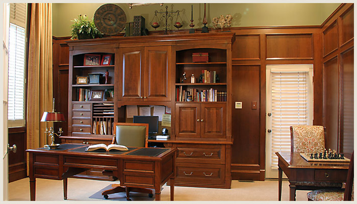 Wood Office Paneling