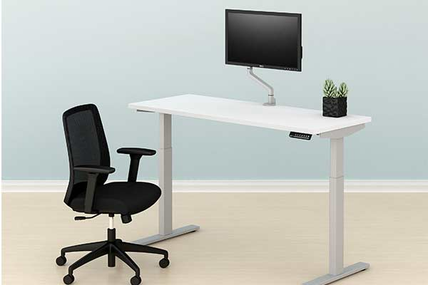 home office sit stand desk